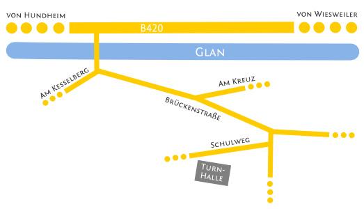 Lageplan der Turnhalle